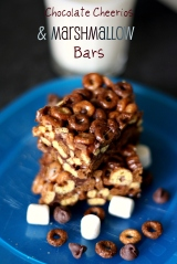 Chocolate Cheerios Marshmallow Bars