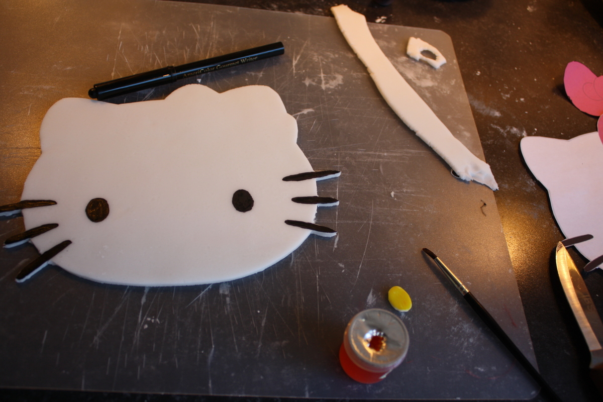 hello kitty template tartine maple cuisine and voila cool huh if you want to secure the bow and nose just place a bit of honey of something sticky underneath before placing on the face