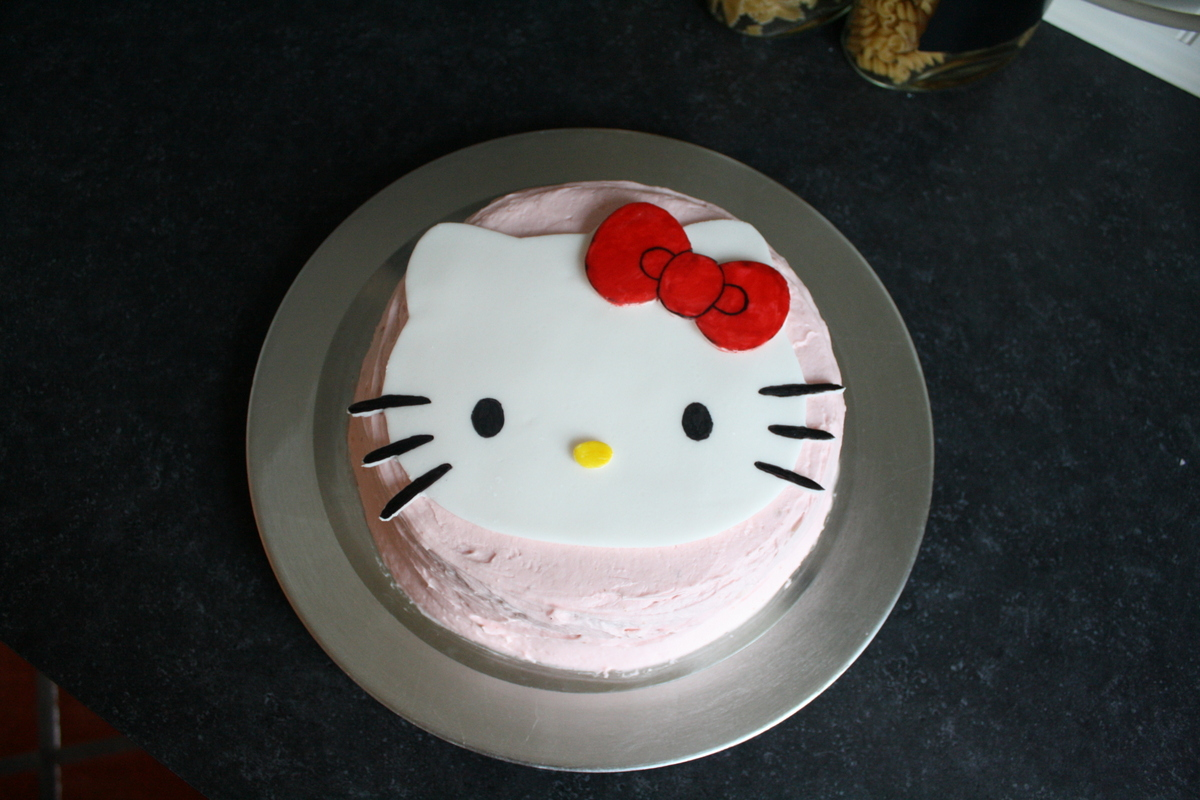 Watch How to Make a Hello Kitty Cake video